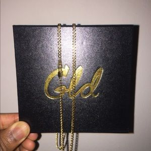 24k Cuban Link Pure Solid Gold Chain